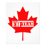 Eh Team Canada Maple Leaf Flyer Design