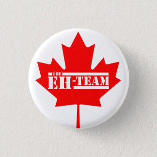 Eh Team Canada Maple Leaf Pinback Button