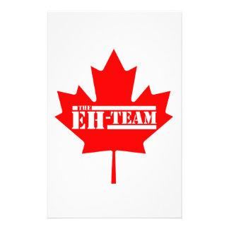 Eh Team Canada Maple Leaf Stationery