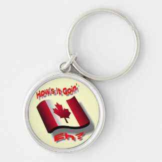 Eh Team Silver-Colored Round Keychain