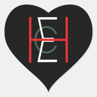 EHC Logo Upright Black Heart Sticker
