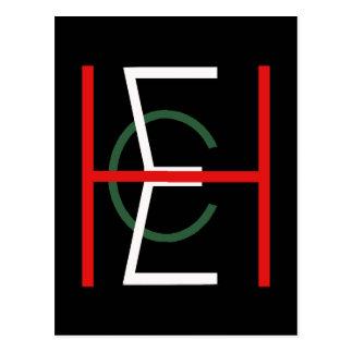 EHC Logo Upright Black Postcard