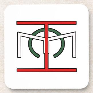 EHC Symbol White Coaster