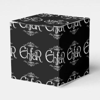 EHFAR - Texto blanco en fondo negro Caja Para Regalo De Boda