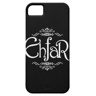 EHFAR - Texto blanco en fondo negro iPhone 5 Carcasa