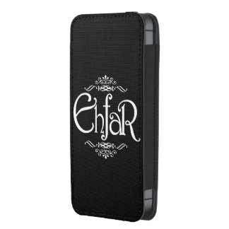 EHFAR - Texto blanco en fondo negro Funda Para iPhone 5