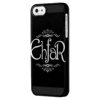 EHFAR - Texto blanco en fondo negro Funda Clearly™ Deflector Para iPhone 5 De Uncommon