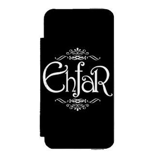 EHFAR - Texto blanco en fondo negro Funda Cartera Para iPhone 5 Watson