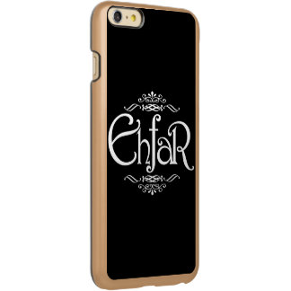 EHFAR - White Text on Black Background Incipio Feather Shine iPhone 6 Plus Case