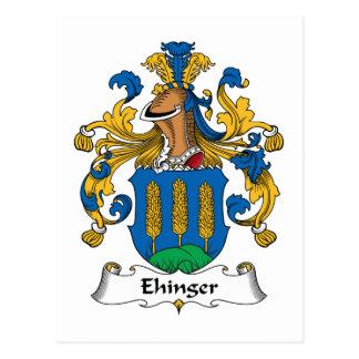 Ehinger Family Crest Postcard