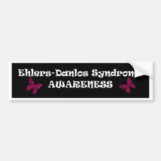 Ehlers-Danlos Awareness Butterfly Bumper Stickers