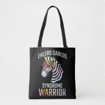 Ehlers Danlos Awareness Gift EDS Warrior Zebra Tote Bag