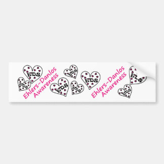 Ehlers-Danlos Awareness Hearts Bumper Stickers