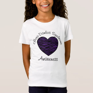 Ehlers Danlos Awareness Purple Zebra Heart Shirt