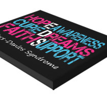 Ehlers-Danlos Awareness Wrapped Canvas Print