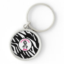 Ehlers-Danlos Awareness Zebra Stripe Key Chains