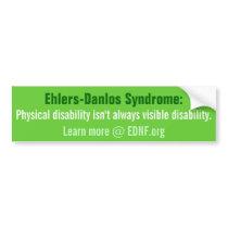 Ehlers-Danlos (EDS) EDNF.org Bumper Sticker