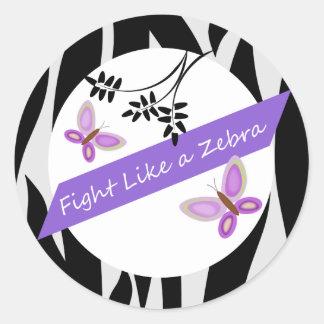 Ehlers-Danlos EDS Fight Like A Zebra Classic Round Sticker