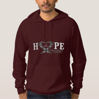 Ehlers-Danlos, EDS, Hope Ribbon Name Customizable Hooded Pullover