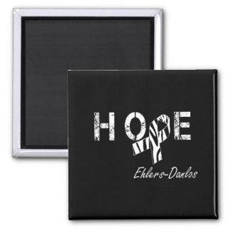 Ehlers-Danlos Hope Zebra Stripe Ribbon Magnet