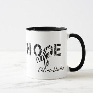 Ehlers-Danlos Hope Zebra Stripe Ribbon Mug