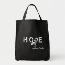 Ehlers-Danlos Hope Zebra Stripe Ribbon Tote Bag