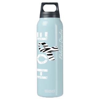 Ehlers-Danlos Hope Zebra StripeRibbon Insulated Water Bottle