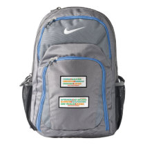 Ehlers Danlos symptoms & inspiring words backpack
