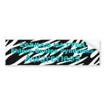 Ehlers Danlos Syndrome Awareness Bumper Stickers