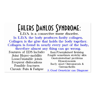 ehlers danlos syndrome awareness card Double-Sided standard business cards (Pack of 100)