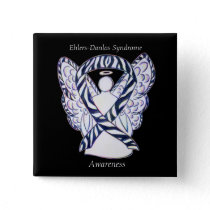 Ehlers-Danlos Syndrome Awareness Ribbon Zebra Pins