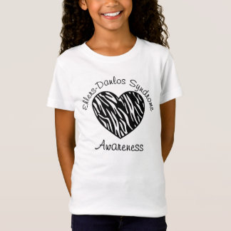 Ehlers Danlos Syndrome Awareness Zebra Heart Shirt