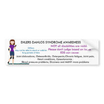 Ehlers Danlos Syndrome Disabled Parking Bumper Sticker