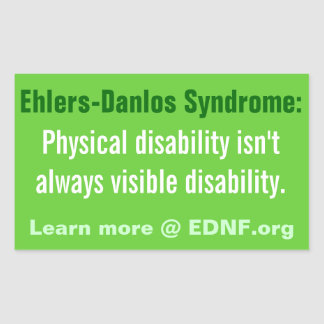 Ehlers-Danlos Syndrome (EDS) Sticker - EDNF.org