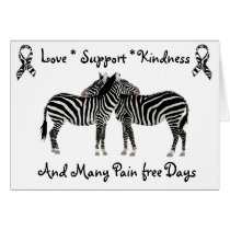 Ehlers-Danlos syndrome EDS Zebra Support Card