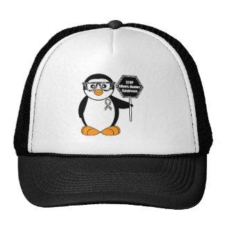 Ehlers-Danlos Syndrome Penguin Zebra Stop Sign Trucker Hat