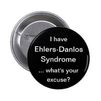 Ehlers Danlos Syndrome Pinback Button