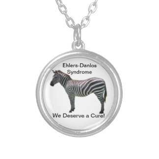 Ehlers-Danlos Syndrome We Deserve a Cure! Silver Plated Necklace