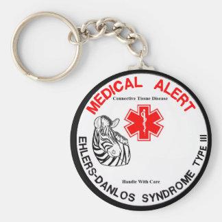 Ehlers Danlos Type 3 Medical Alert Basic Round Button Keychain