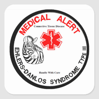 Ehlers Danlos Type 3 Medical Alert Square Sticker