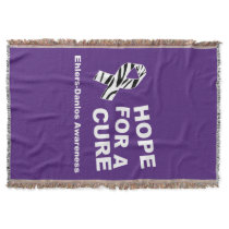 Ehlers Danlos Zebra Awareness Ribbon Throw Blanket