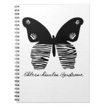 Ehlers-Danlos Zebra Butterfly Spiral Notebook