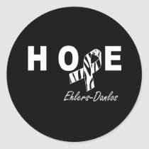 Ehlers-Danlos Zebra Ribbon Hope Sticker