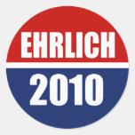 EHRLICH 2010 CLASSIC ROUND STICKER