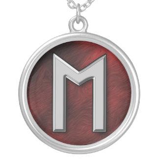 Ehwaz Round Pendant Necklace