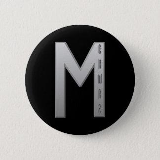 Ehwaz Rune grey Button