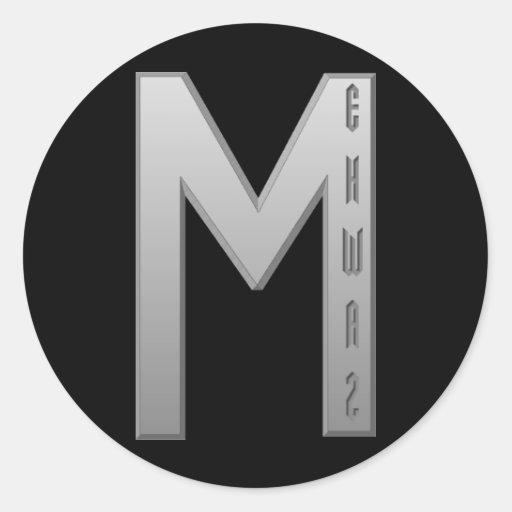Ehwaz Rune grey Sticker