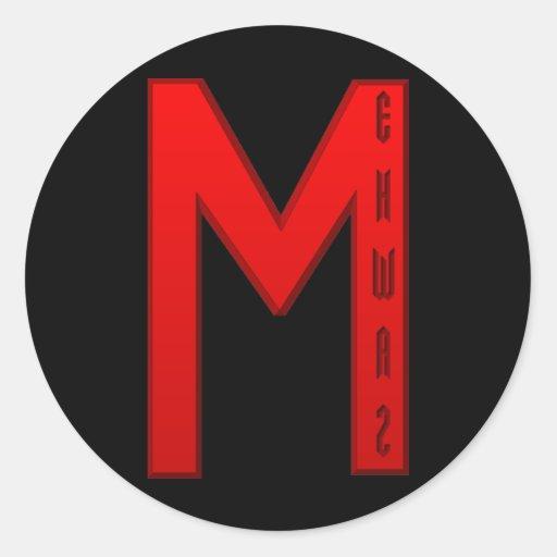 Ehwaz Rune red Sticker