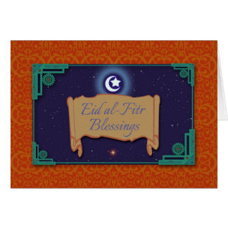 Eid al-Fitr Blessings, Ornate Greeting Card