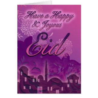 Eid Card, Happy And Joyous Eid, Purple